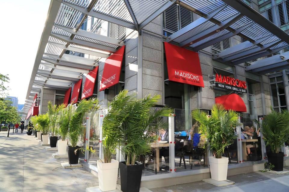 Menu Du Restaurant Madison Montreal