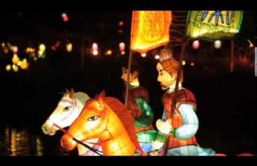 Les lanternes illuminent le Jardin botanique
