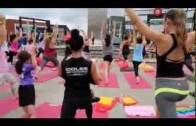 Yoga en plein @ Centropolis animé par Virginie Coossa