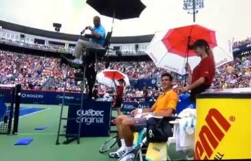 Fumée secondaire de POT pour Djokovic