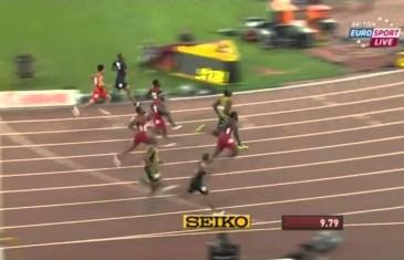 Usain Bolt remporte le 100 mètres au Championnat du monde