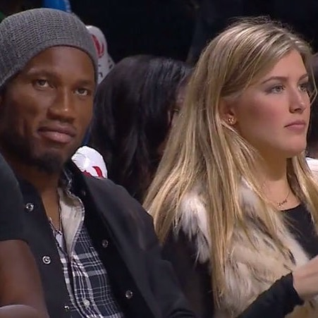 Drogba et Bouchard courtside au match des Raptors