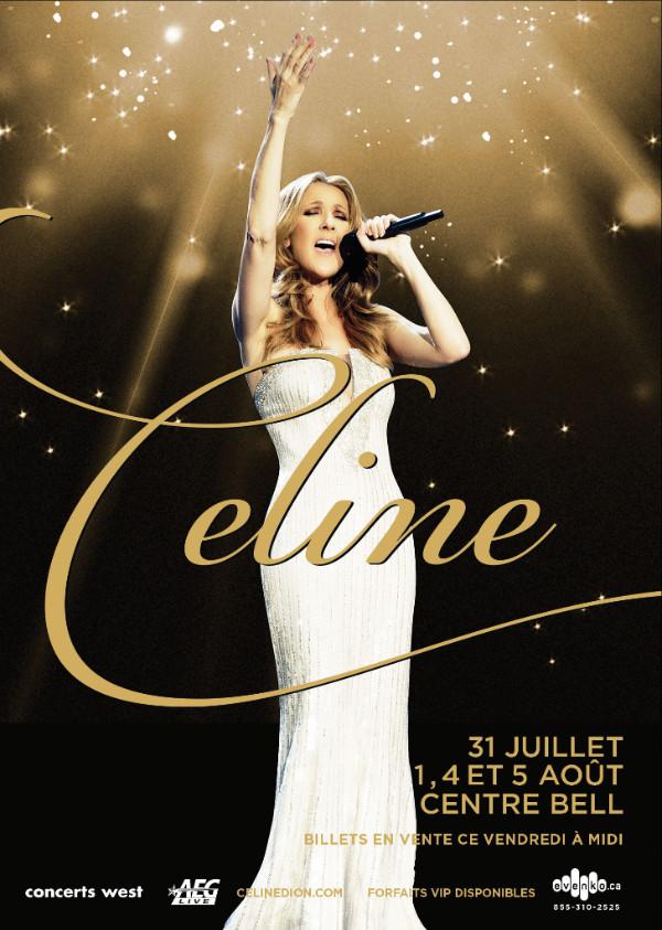 Céline Dion en spectacle à Montréal et Québec
