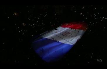 Les Canadiens de Montréal rendent hommage aux victimes des attentats de Paris