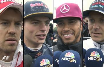 Lewis Hamilton, Sebastian Vettel, Valtteri Bottas, Nico Rosberg, Daniel Ricciardo, Max Verstappen et Carlos Sainz commentent le Grand Prix du Canada 2016