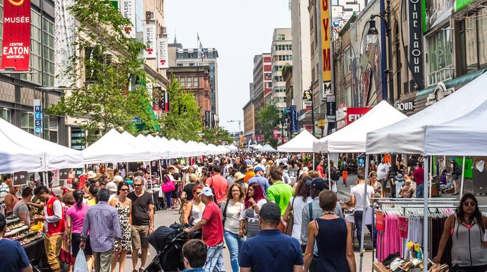 La plus grande vente trottoir au Canada a lieu en fin de semaine à Montréal