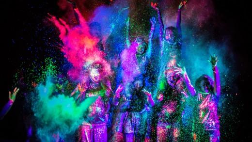 The Color Run Night samedi soir à Montréal