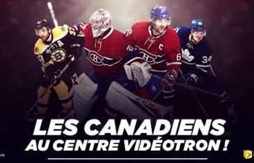 Les Canadiens disputeront deux matchs au Centre Vidéotron à Québec