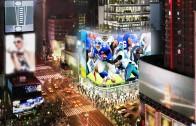 Le Cirque du Soleil et la NFL créent un spectaculaire emplacement immersif à Times Square | Vidéo