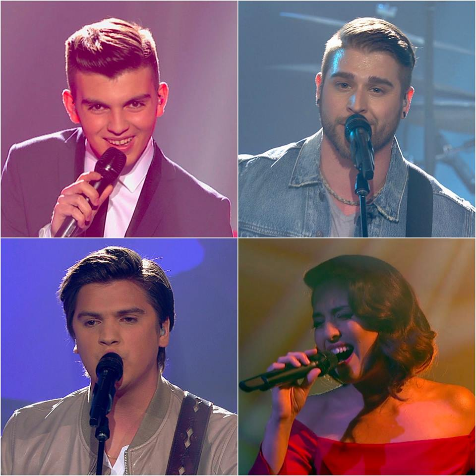 Ludovick, Frank, Rebecca et David en grande finale de La Voix à TVA