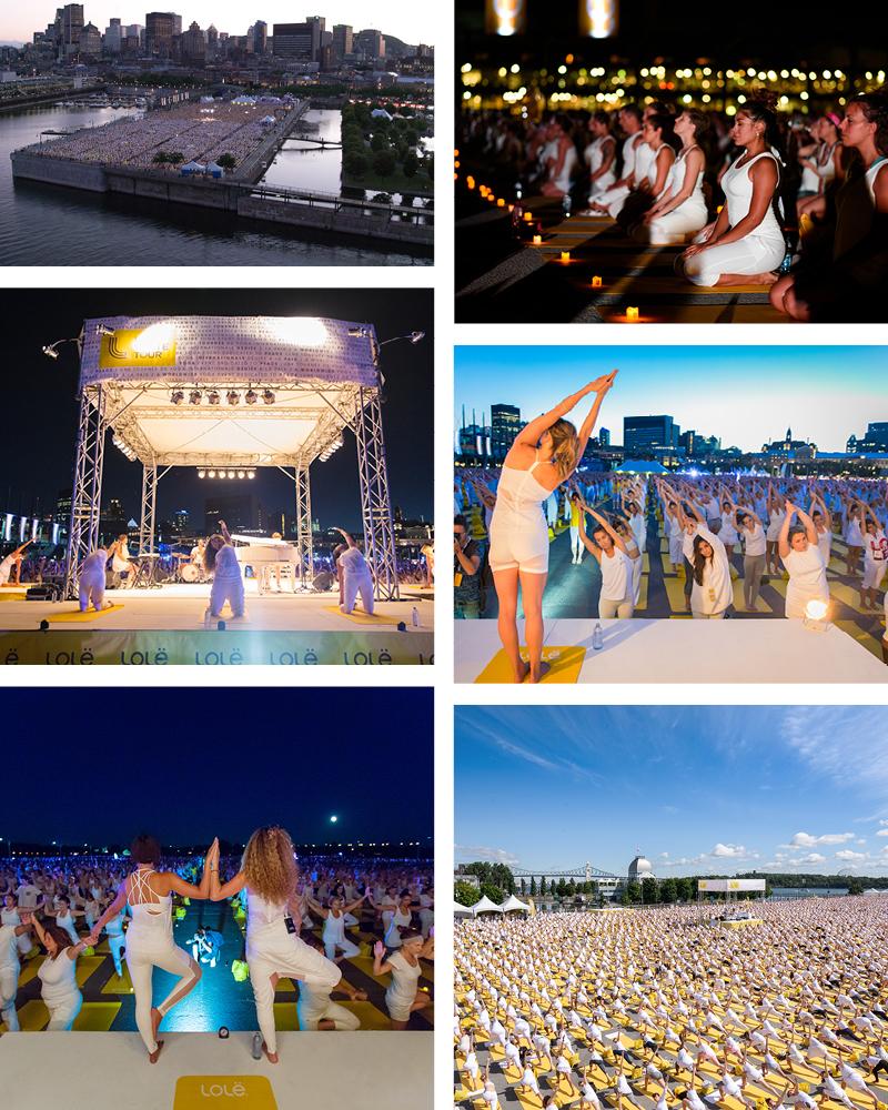 10 000 yogis attendus dans le Vieux-Port pour le Lolë White Tour à Montréal