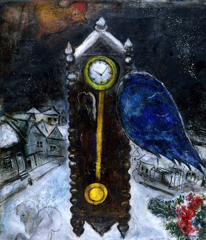 Chagall 2 Grandpopa Clock