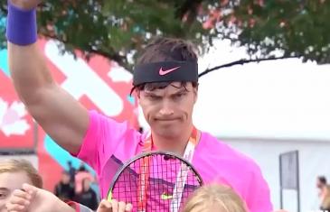 Un faux Rafael Nadal à la Coupe Rogers à Montréal | Vidéo