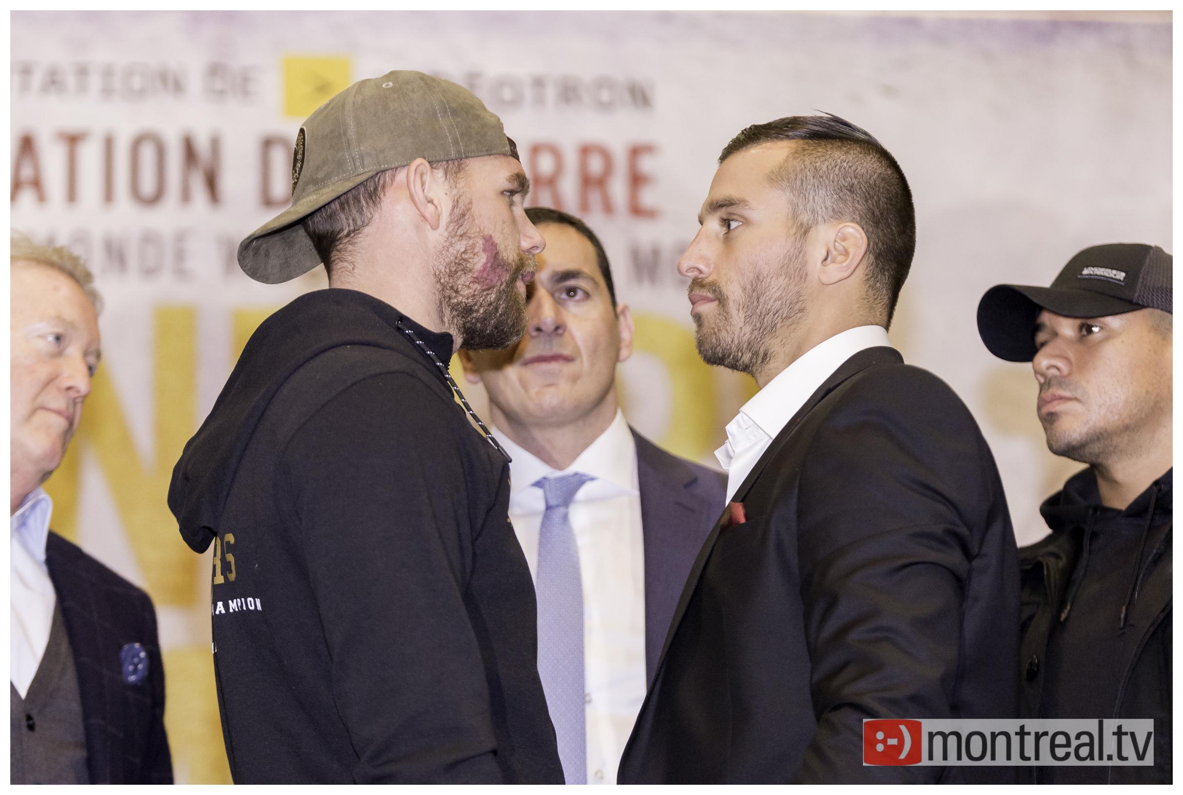 Lemieux vs Saunders: photos de la conférence de presse