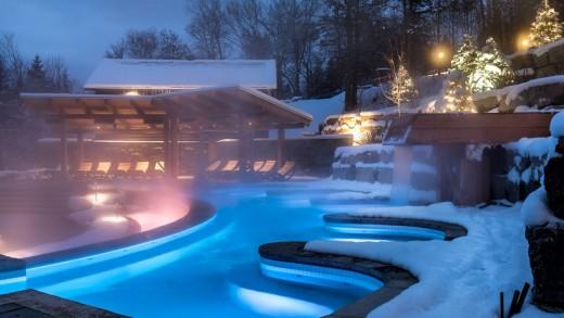 Le Spa Scandinave de Mont-Tremblant rajoute des nouveaux bains extérieurs   Photos