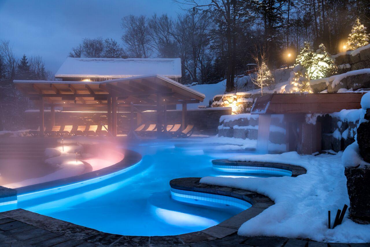 Le Spa Scandinave de Mont-Tremblant rajoute des nouveaux bains extérieurs | Photos