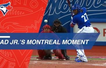 Vidéo | Le fameux circuit de Vladimir Guerrero Jr à Montréal