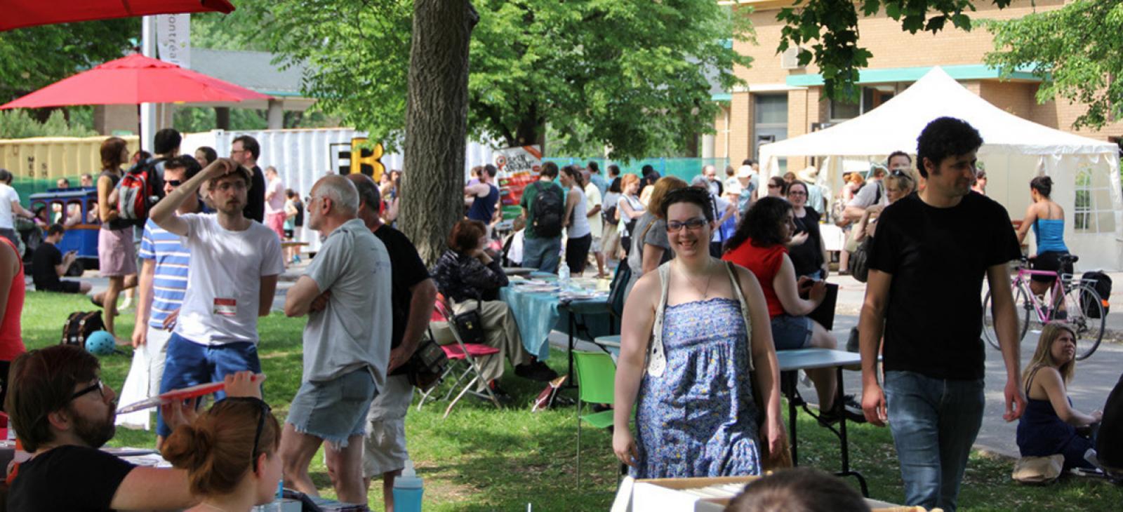Le Festival BD de Montréal au coeur du parc La Fontaine