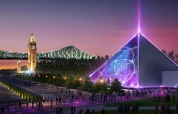 Guy Laliberté installe deux pyramides pour un spectacle dans le Vieux-Port de Montréal