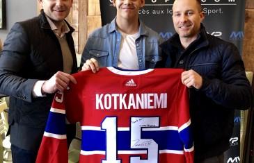 La nouvelle vedette du Canadien Jesperi Kotkaniemi se joint au Groupe MVP