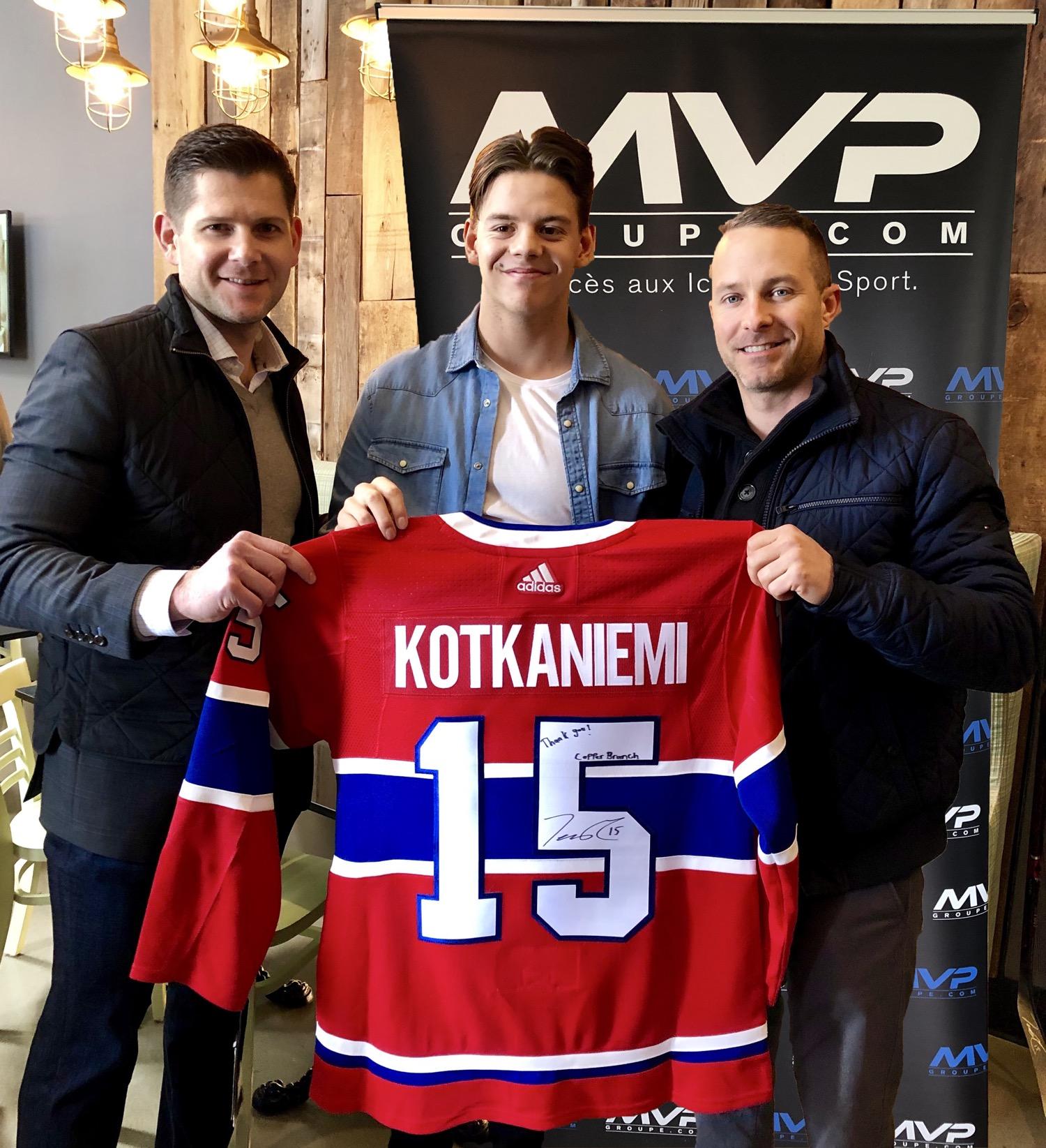 f6e0b3f86dc La nouvelle vedette du Canadien Jesperi Kotkaniemi se joint au Groupe MVP