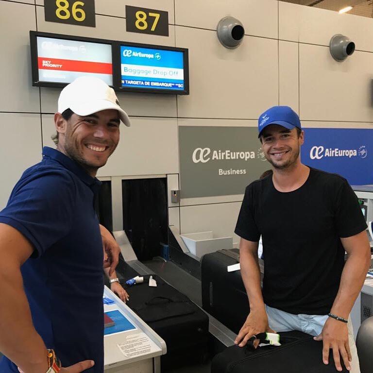 Rafael Nadal déjà en route vers Montréal pour participer à la Coupe Rogers