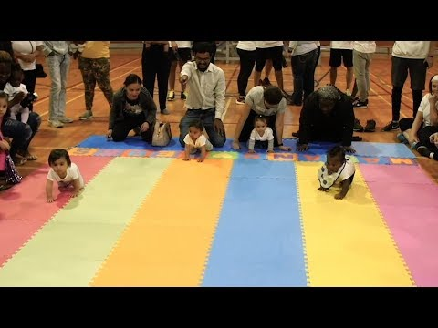 Reportage vidéo de la Course de bébés organisée par le Dispensaire de Montréal
