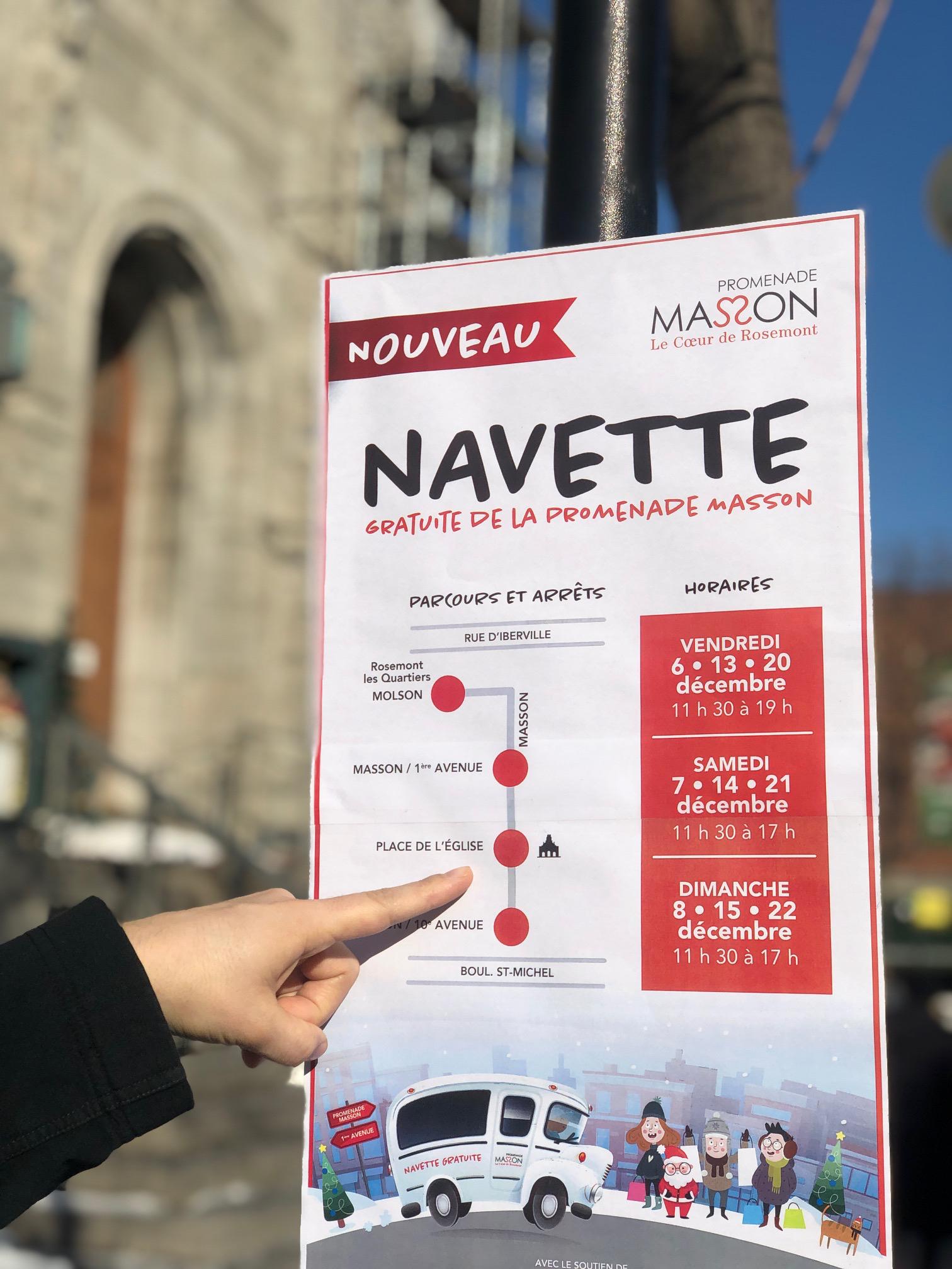 La rue Masson innove avec l'implantation d'un service gratuit de navette