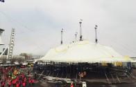 Vidéo   Levée du chapiteau du Cirque du Soleil dans le Vieux-Port de Montréal