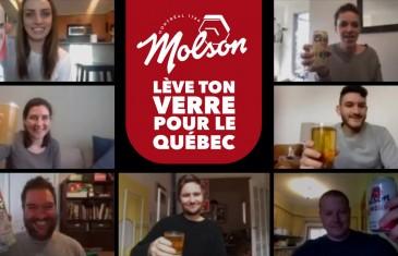 Tu peux gagner 25$ en faisant un 5 à 7 Virtuel grâce à Molson qui vient en aide aux bars et restaurants du Québec