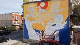 Photos   Une magnifique murale sur le Plateau pour les 50 ans de Ballets Jazz Montréal